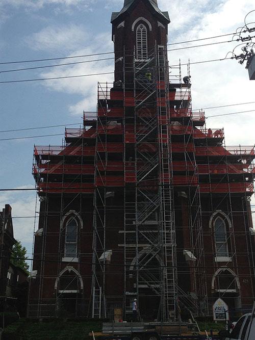 Scaffolding Platform St.-Paul-Church-Lexington-Ky-2-min-1