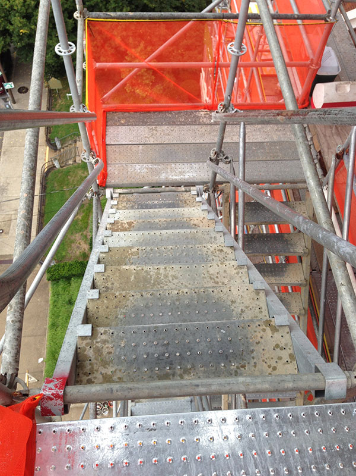Scaffolding Platform St.-Paul-Church-Lexington-Ky-Stairs-min-1