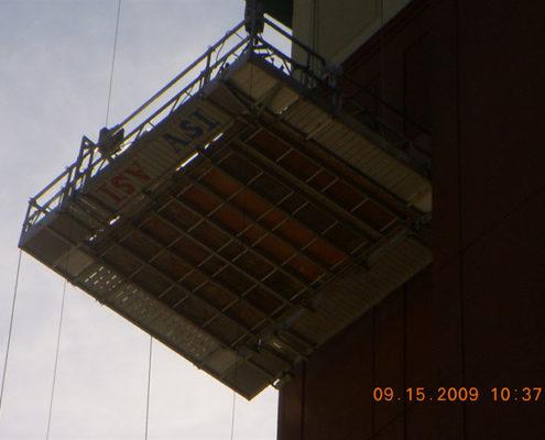 Scaffolding in air