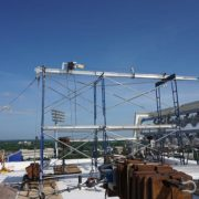 Bismac-Material-Hoist-on-Scaffolding-Towers
