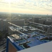 Childrens-Hospital-Location-T-Big-Blue-(beams-on-scaffolding-Towers)