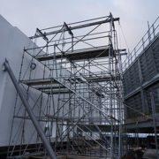 childrens-hospital-location-t-cincinnati,-ohio-(-5x5-beams-on-scaffolding-towers)