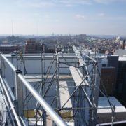 childrens-hospital-location-t-cincinnati,-ohio-(-multiple--5x5-beams-on-scaffolding-towers)