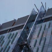 childrens-hospital-location-t-cincinnati,-ohio-(u-shaped-swing-stage-and-10x6-beams-on-scaffolding-towers)