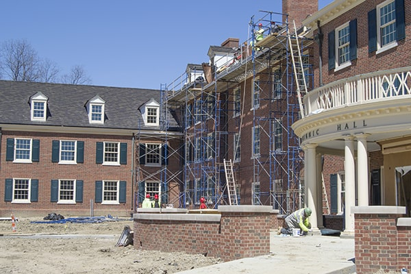 frame scaffolding in use